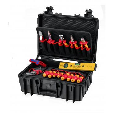 Инструментальный чемодан 24 предмета KNIPEX Robust23 Start Electric 002134HLS2
