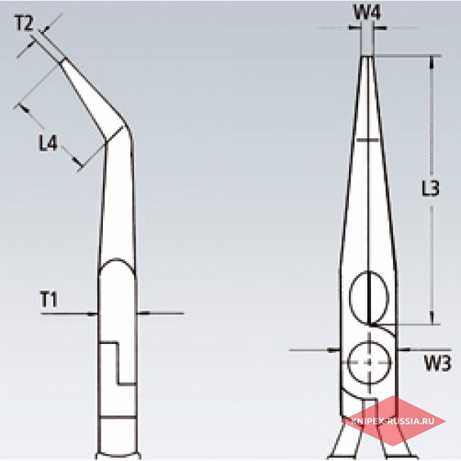 Круглогубцы с плоскими губками с режущими кромками KNIPEX KN-2626200T