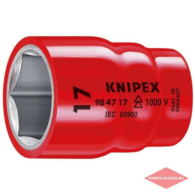 Торцовая головка для винтов с шестигранной головкой 1/2 KNIPEX KN-984713