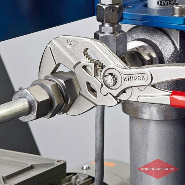 Клещи переставные-гаечный ключ c ручками под углом 15°, 250 мм, KNIPEX KN-8643250