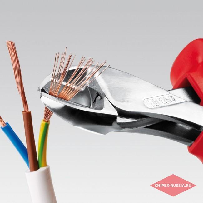 Компактные кусачки боковые X-Cut диэлектрические KNIPEX KN-7306160TBK