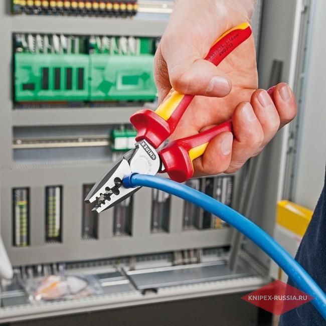 Инструмент для обжима контактных гильз KNIPEX KN-9778180T