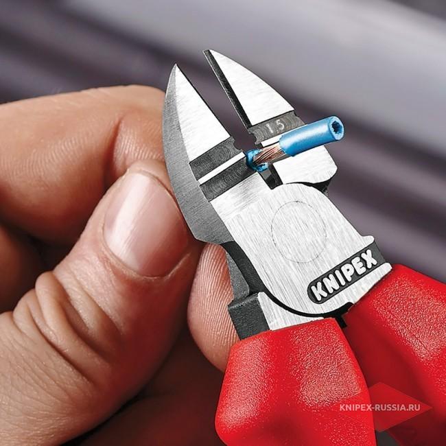 Кусачки боковые для удаления изоляции KNIPEX KN-1422160