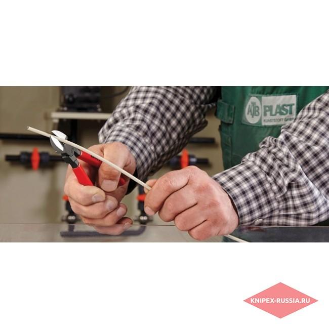 Кусачки боковые для пластмассы KNIPEX KN-7201160