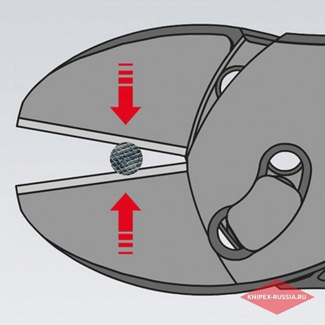 Кусачки боковые повышенной мощности TwinForce® KNIPEX KN-7372180F