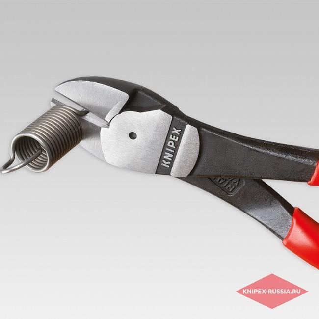 Кусачки боковые особой мощности со страховочным креплением KNIPEX KN-7402250T