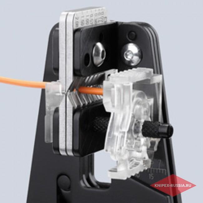 Прецизионный инструмент для удаления изоляции с фасонными ножами KNIPEX KN-121206