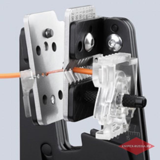 Прецизионный инструмент для удаления изоляции с фасонными ножами KN-121206 KNIPEX KN-121213