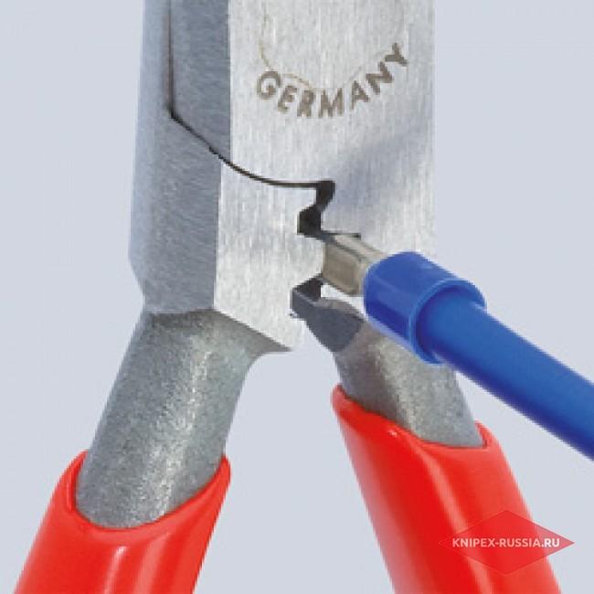 Плоскогубцы для монтажа проводов со страховочным креплением KNIPEX KN-1305160T