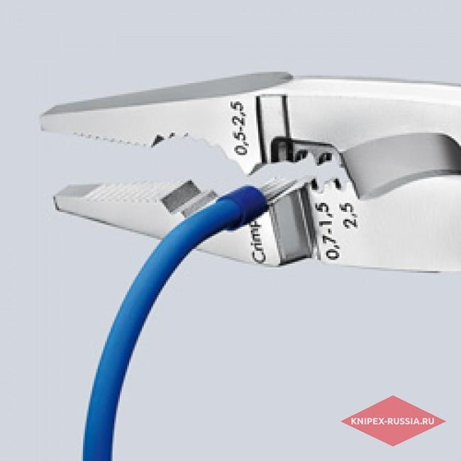 Электромонтажные клещи со страховочным креплением KNIPEX KN-1382200T
