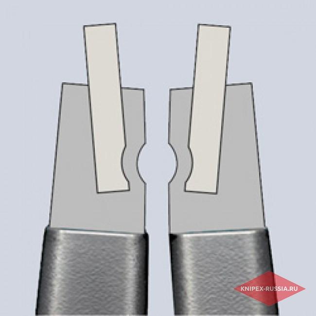 Прецизионные щипцы для стопорных колец с ограничением раскрытия KNIPEX KN-4941A21