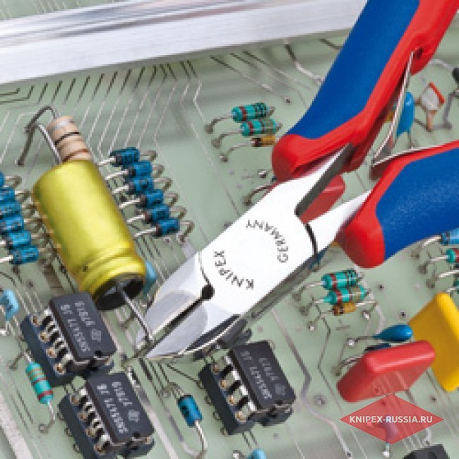 Кусачки боковые для электроники KNIPEX KN-7732120H