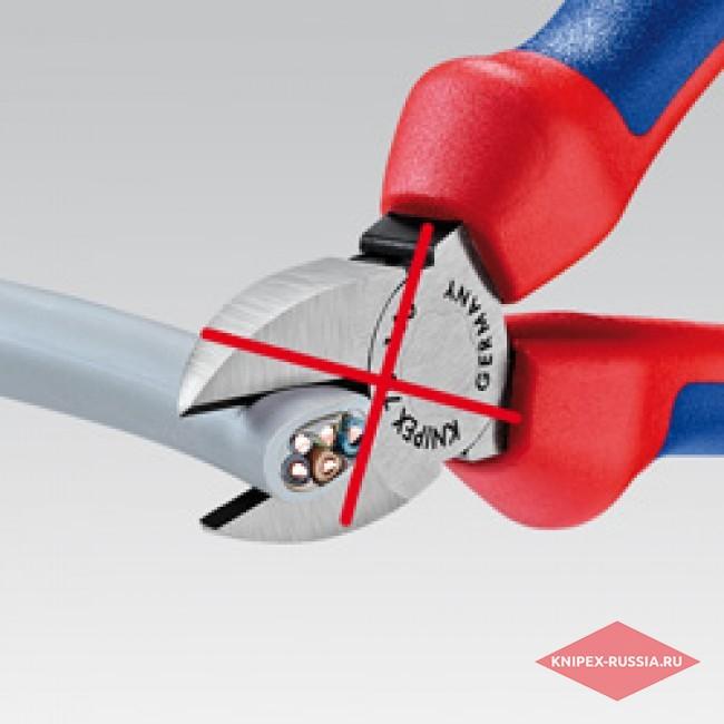 Ножницы для резки кабелей со страховочным креплением KNIPEX KN-9512165T