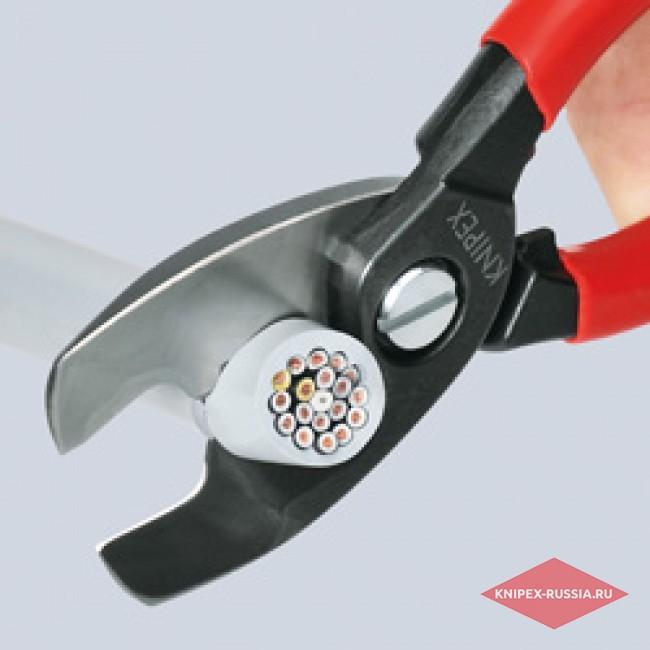 Ножницы для резки кабелей с двойными режущими кромками KNIPEX KN-9512200