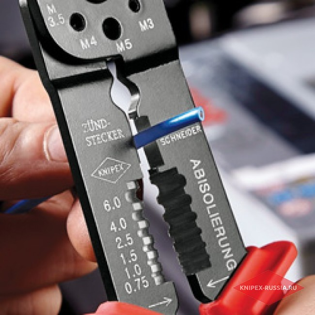 Клещи зажимные для опрессовки KNIPEX KN-9721215B