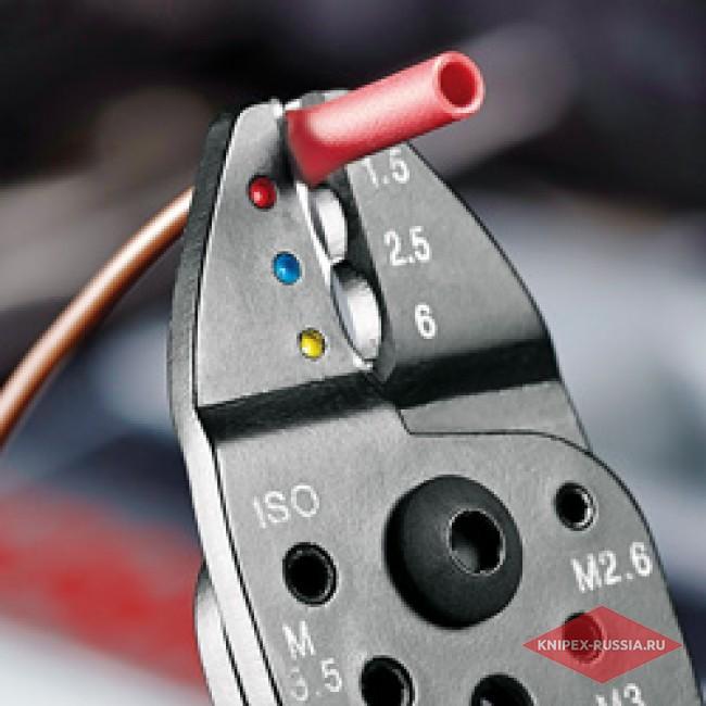 Клещи зажимные для опрессовки KNIPEX KN-9721215C