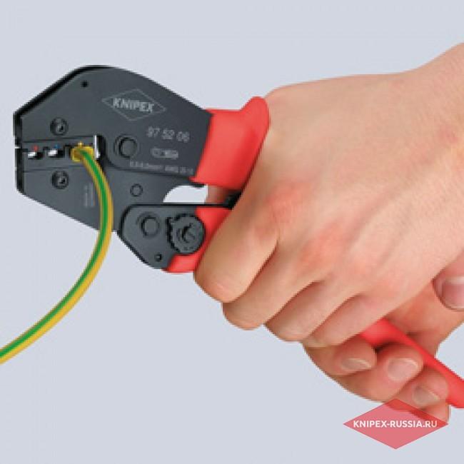 Клещи зажимные для опрессовки KNIPEX KN-975213