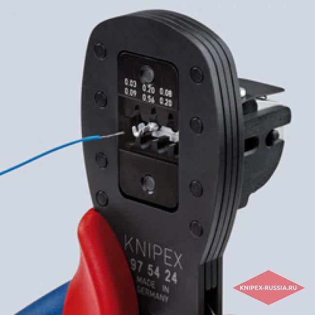 Обжимные клещи для миниатюрных штекеров KNIPEX KN-975427