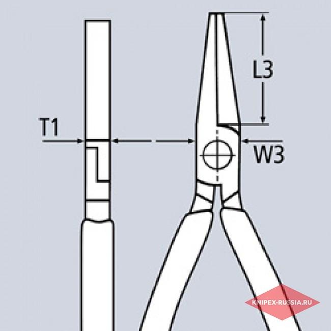 Плоскогубцы комбинированные KNIPEX KN-0305180