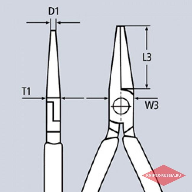 Круглогубцы с режущей кромкой KNIPEX KN-1901130