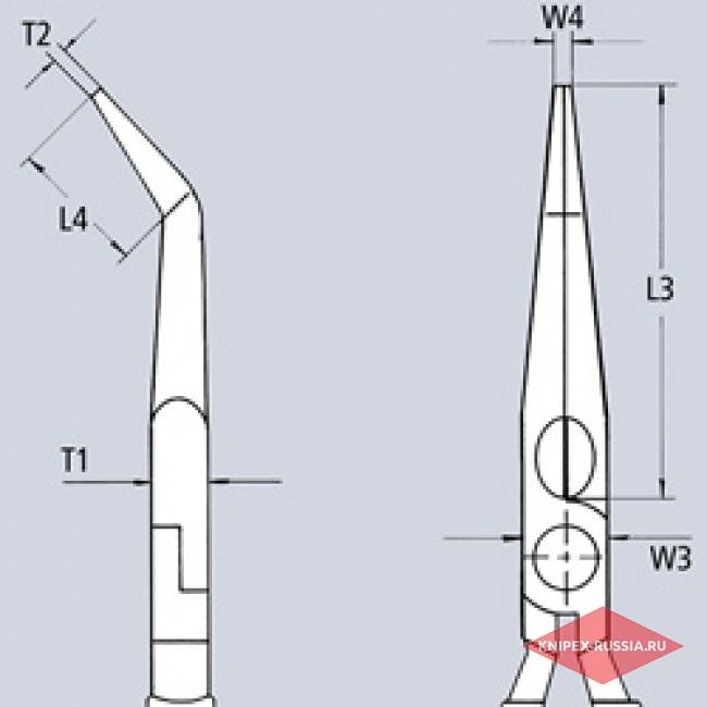 Плоские круглогубцы с режущими кромками KNIPEX KN-2626200
