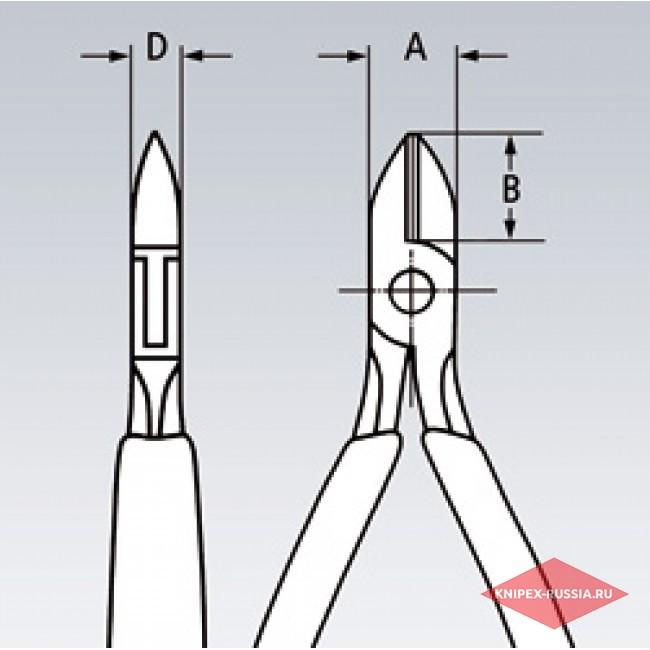 Кусачки боковые для электромеханика KNIPEX KN-7605125