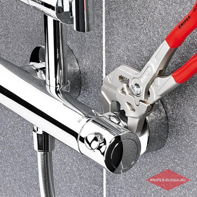 Клещи переставные-гаечный ключ KNIPEX KN-8605180TBK