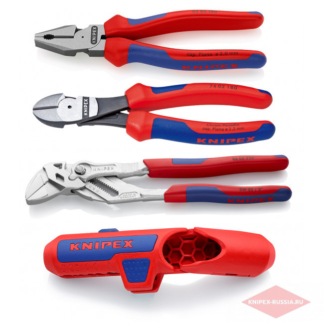 4 предмета KN-0202180, KN-7402180, KN-8605250, KN-169501SB в фирменном магазине KNIPEX