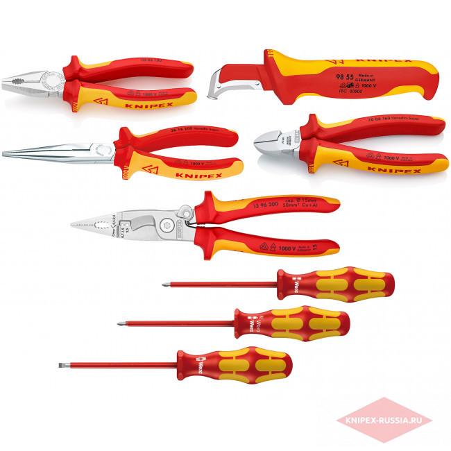 8 предметов KN-7006160, KN-1396200, KN-0306180, KN-2616200, KN-9855, WE-0061 в фирменном магазине KNIPEX