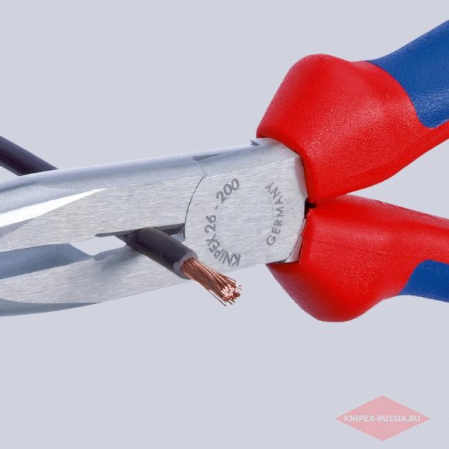 Плоские круглогубцы с режущими кромками KNIPEX KN-2622200
