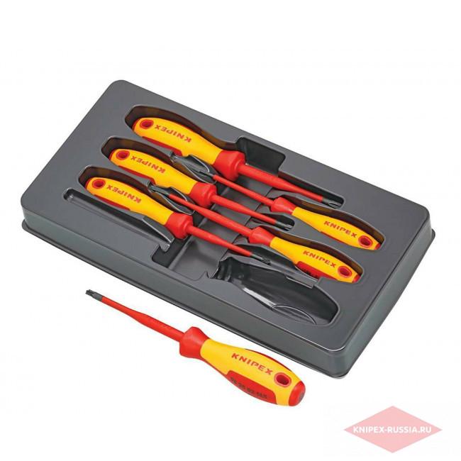 Набор VDE отверток 6 предметов KNIPEX KN-002012V05